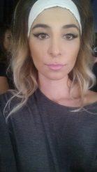 In hair and make up at LA Fashion Week before hitting the Runway