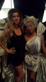 With Jessica Sanchez at LA Fashion Week
